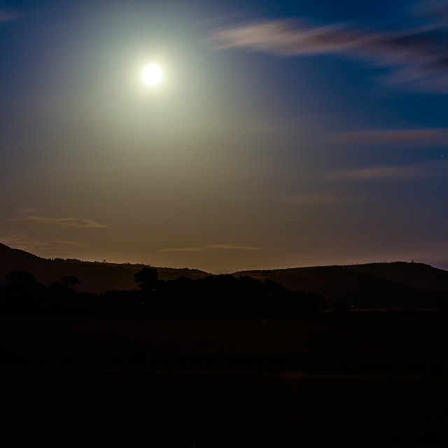 """Moon and Hills (2)"" stock image"