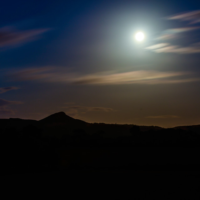 """Moon and Hills (1)"" stock image"