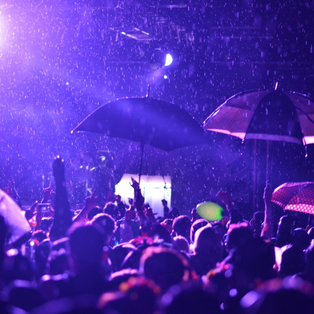 """Rain at METRONOMY"" stock image"