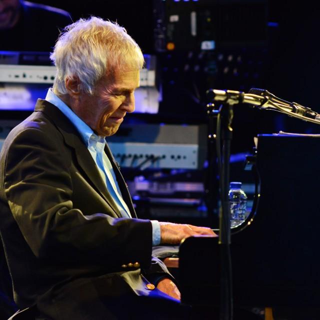 """""""Bacharach at piano 2"""" stock image"""