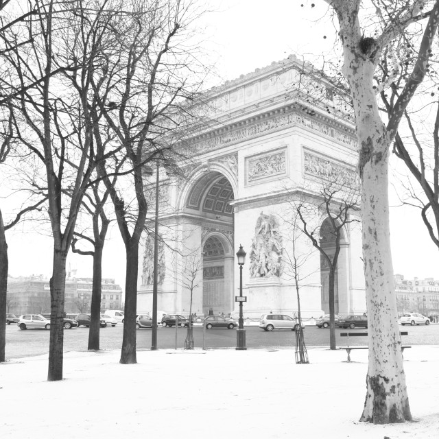 """A snowy Paris"" stock image"