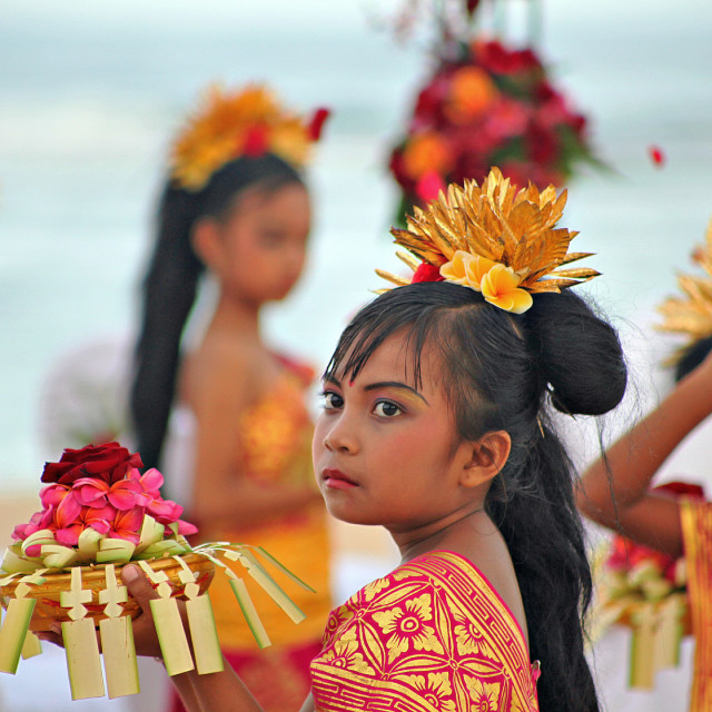 """Balinese Girl With Offering"" stock image"