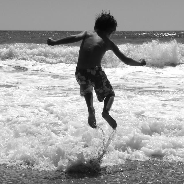 """Jumping waves"" stock image"