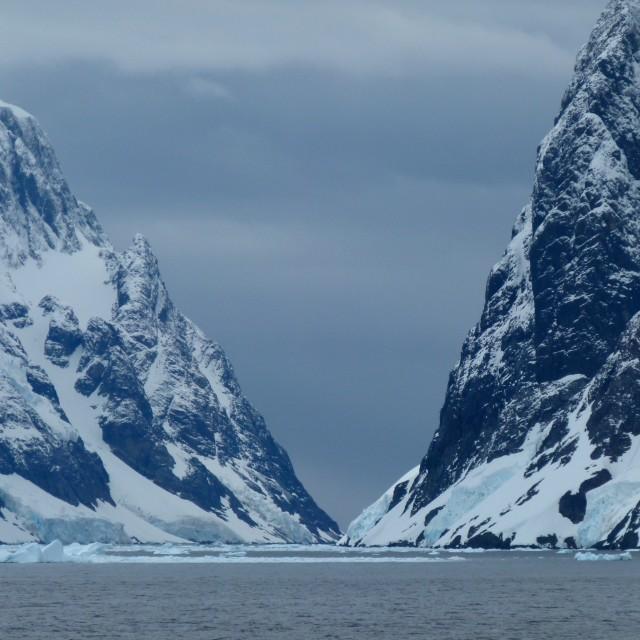 """Antarctic peaks"" stock image"