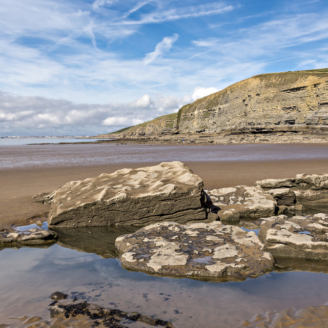 """""""Dunraven Bay in the Vale of Glamorgan, Wales"""" stock image"""