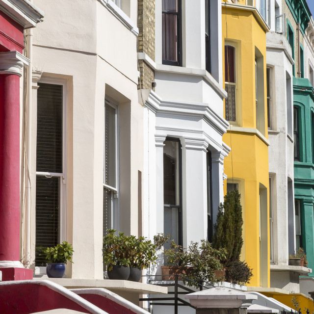 """""""Coloured Houses"""" stock image"""