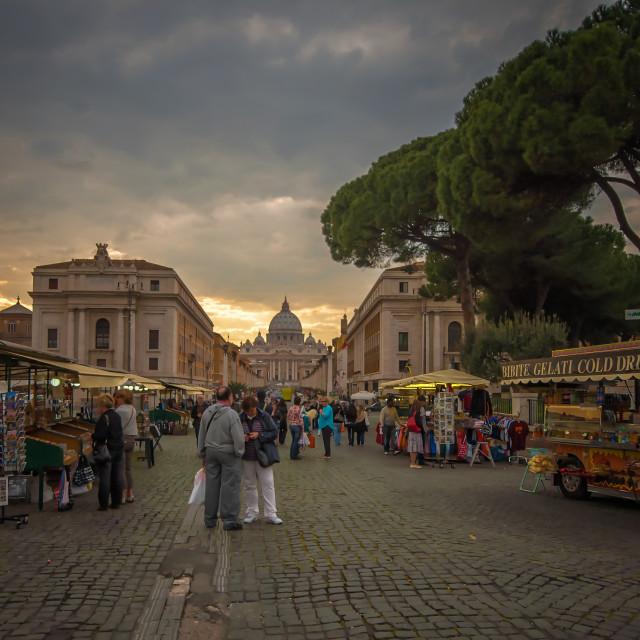 """St Peters Basilica, Vatican City, Rome"" stock image"
