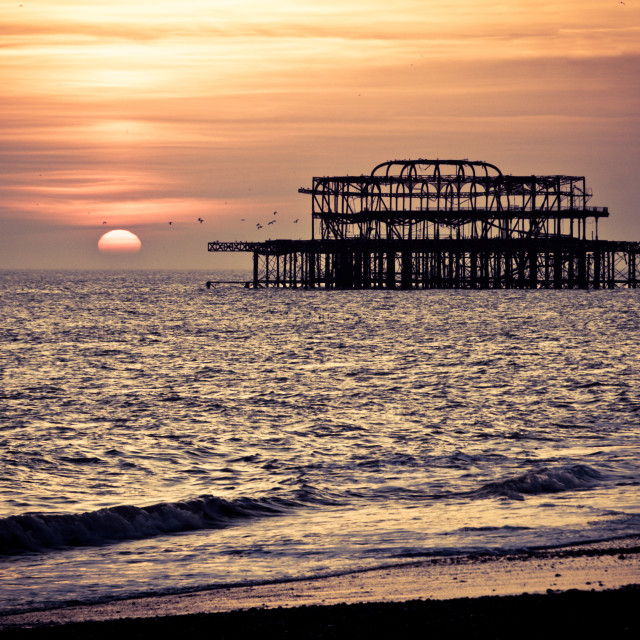 """West Pier sunset (1)"" stock image"