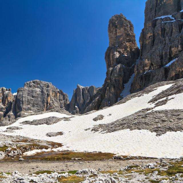 """Dolomiti - landscape in Sella mount"" stock image"
