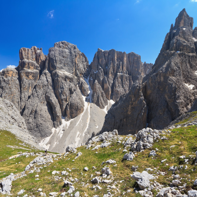 """Dolomiti - Piz da Lech and Mezdi valley"" stock image"