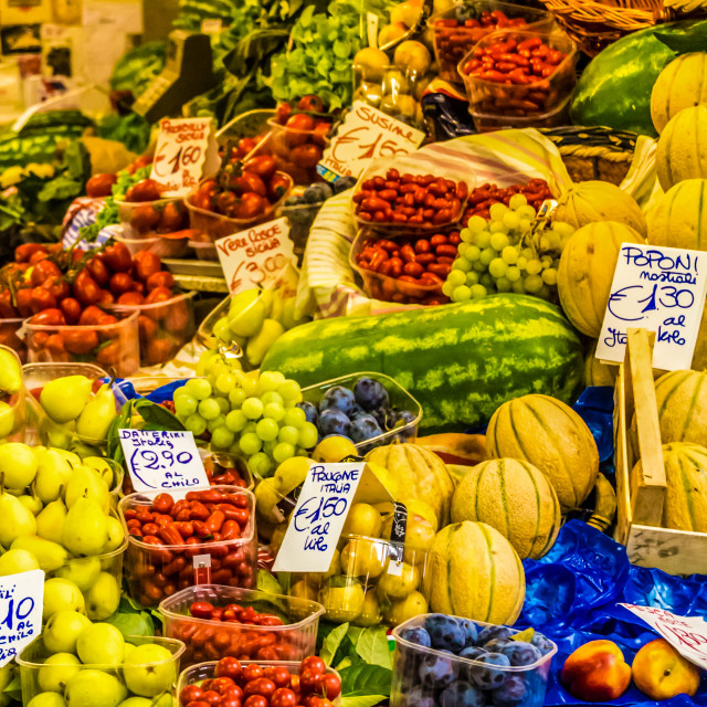 """Fruit & veg market"" stock image"