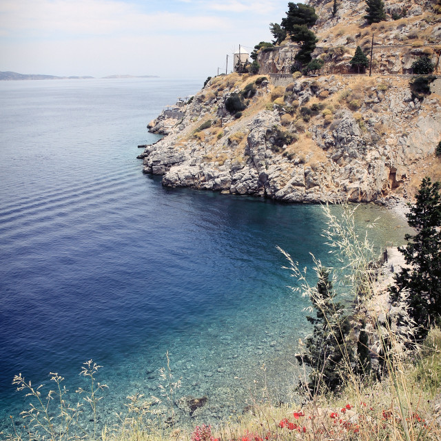 """Landscape in Hydra, a Greek island"" stock image"