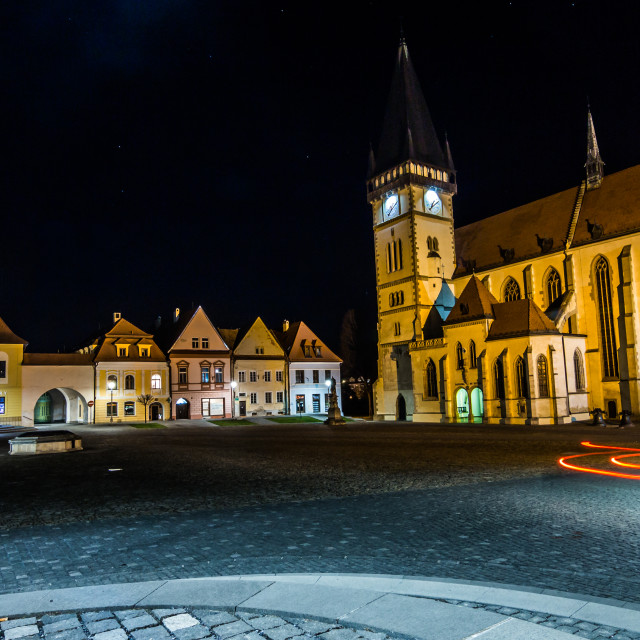 """Bardejov square lights"" stock image"