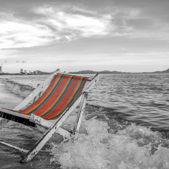 """""""Weathering the Waves (Thailand)"""" stock image"""