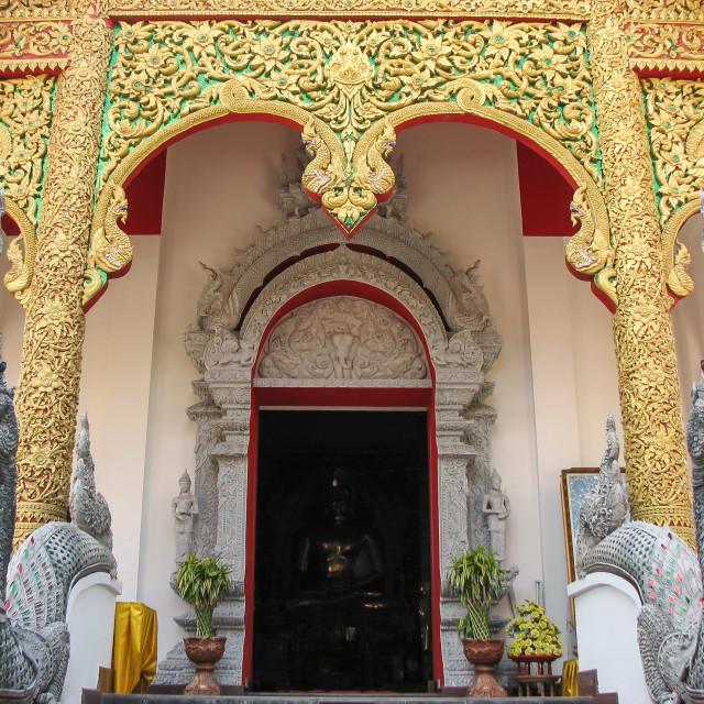 """""""Guarding Buddha (Thailand)"""" stock image"""