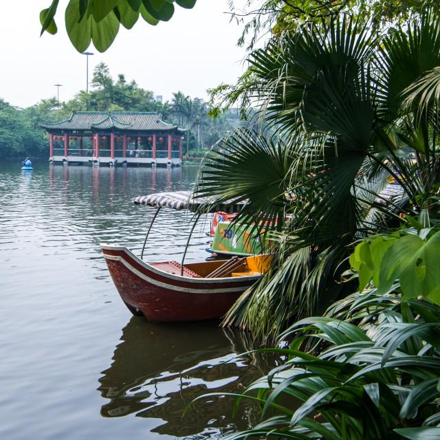 """Boating Lake, Guangzhou"" stock image"