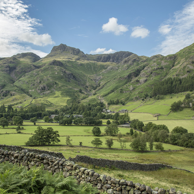 """Langdale Valley - The English Lake District"" stock image"