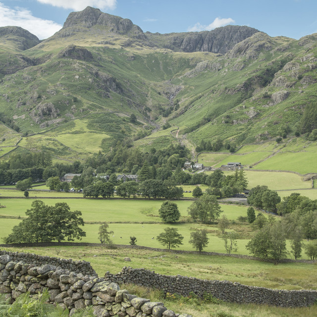 """""""Langdale Valley - The English Lake District"""" stock image"""
