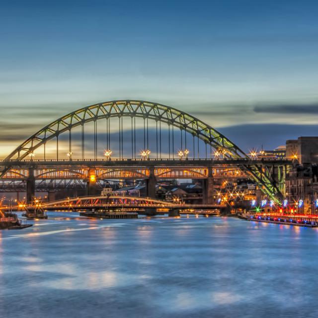 """""""Newcastle Tyne Bridge"""" stock image"""