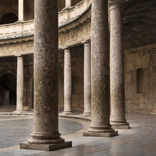 """""""Palacio de Carlos V, Alhambea, Granada"""" stock image"""