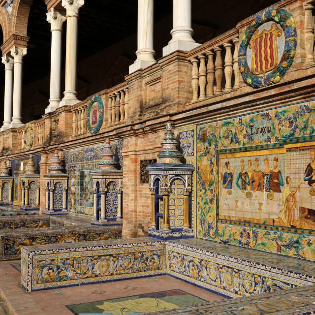"""Plaza de Espana, Sevilla, Spain"" stock image"