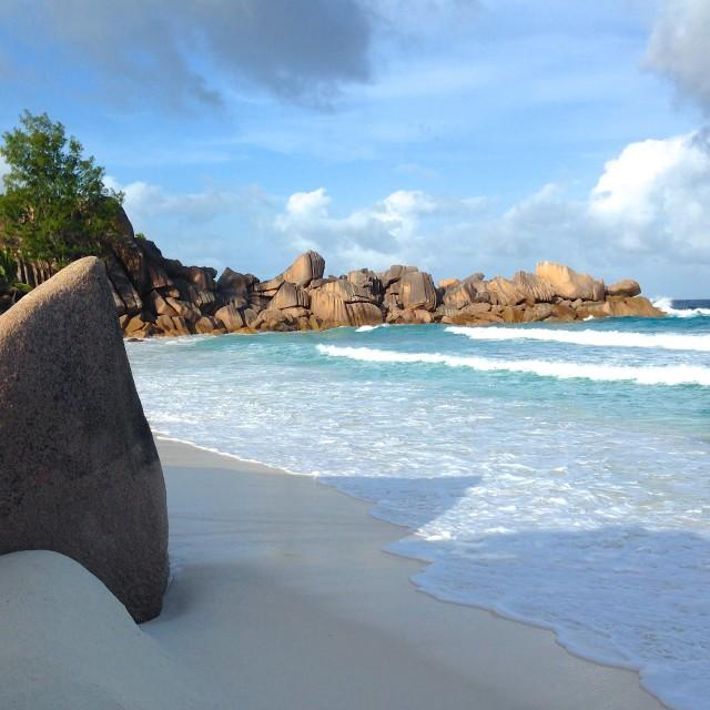 """Grande Anse, Seychelles"" stock image"
