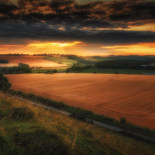 """Late Summer's Evening"" stock image"