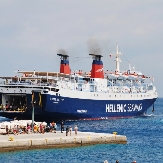 """Patitiri harbour, Alonissos island"" stock image"