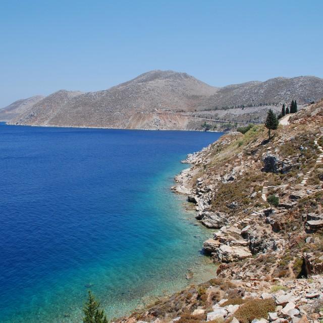 """Symi coastline, Greece"" stock image"