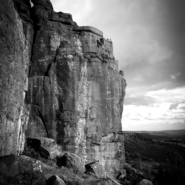 """Gritstone Rock Face ."" stock image"