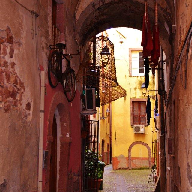 """""""Bosa Sardinia"""" stock image"""