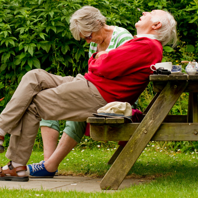 """old man sleeping"" stock image"
