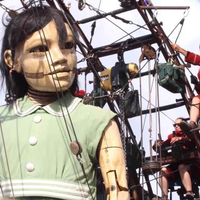 """The Little Girl Giant"" stock image"