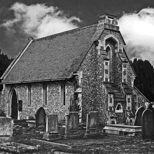 """Fakenham Church"" stock image"