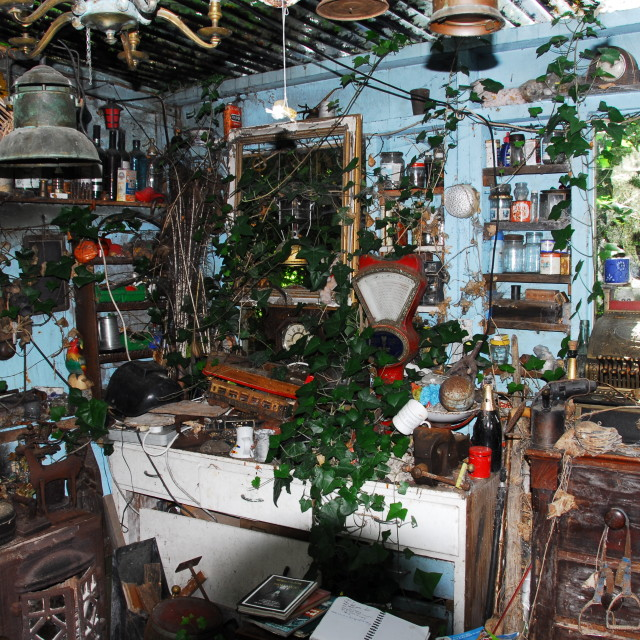 """""""Old Garden Shed"""" stock image"""