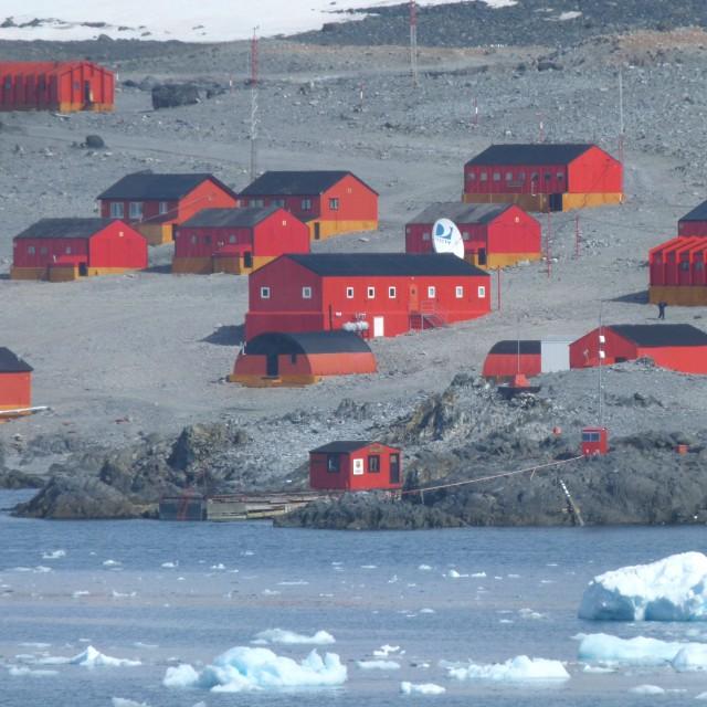 """Antarctic base"" stock image"