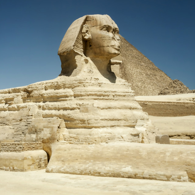 """Sphinx At Gisa, Egypt"" stock image"