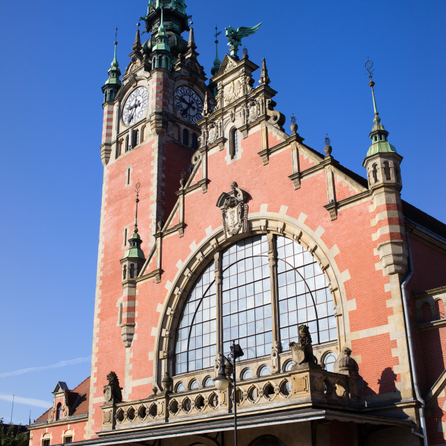 """Main Railway Station in Gdansk"" stock image"
