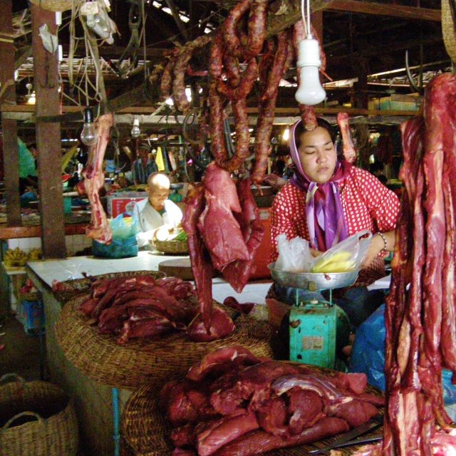 """Cambodian Butchers"" stock image"