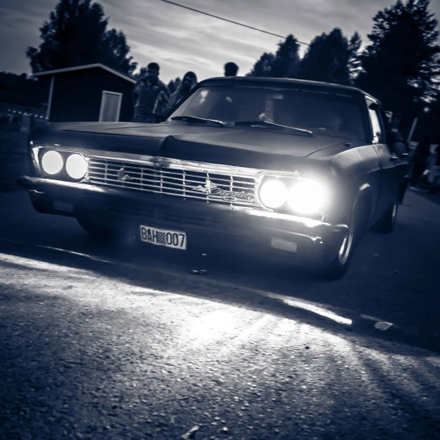 """Night Chevvy"" stock image"
