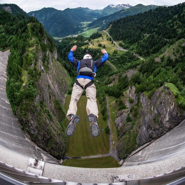 """Dam Jump"" stock image"