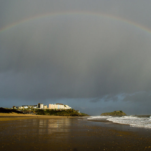 """Tenby Rainbow"" stock image"