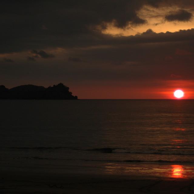 """Sunset in Costa Rica"" stock image"