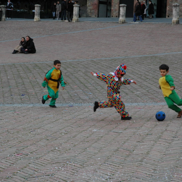 """Carnival football in Sienna"" stock image"