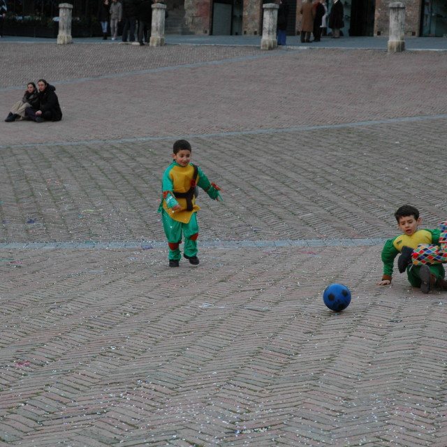 """""""Carnival football in Sienna"""" stock image"""
