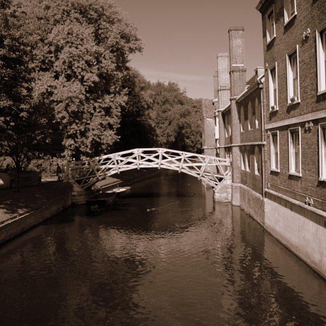 """""""Newton's Bridge in Cambridge"""" stock image"""