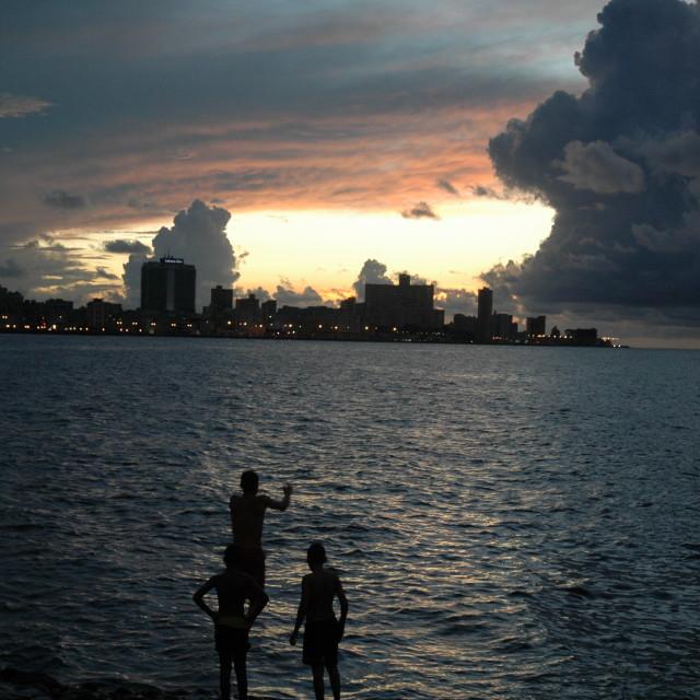 """""""Malecon, Havana sunset"""" stock image"""