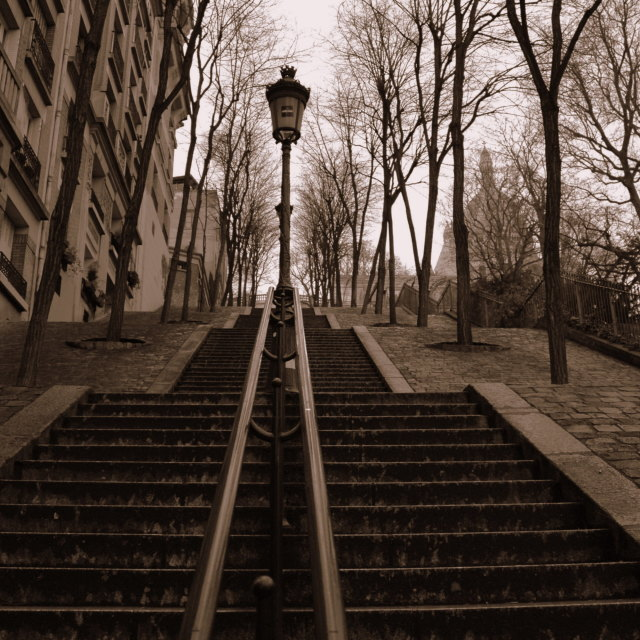 """Montmartre stairs"" stock image"