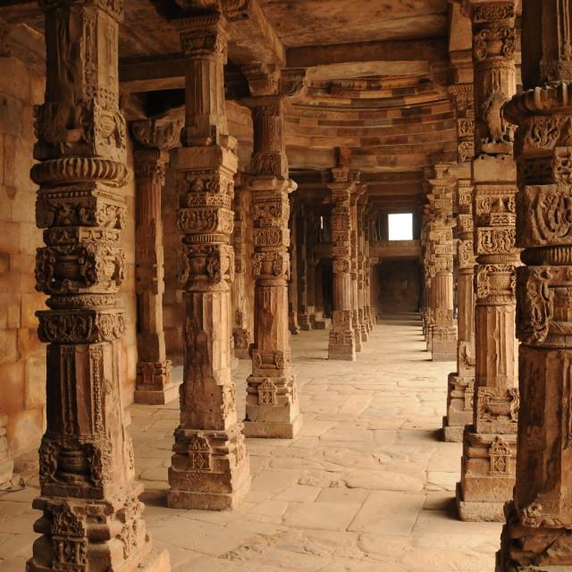 """Columns in Delhi"" stock image"