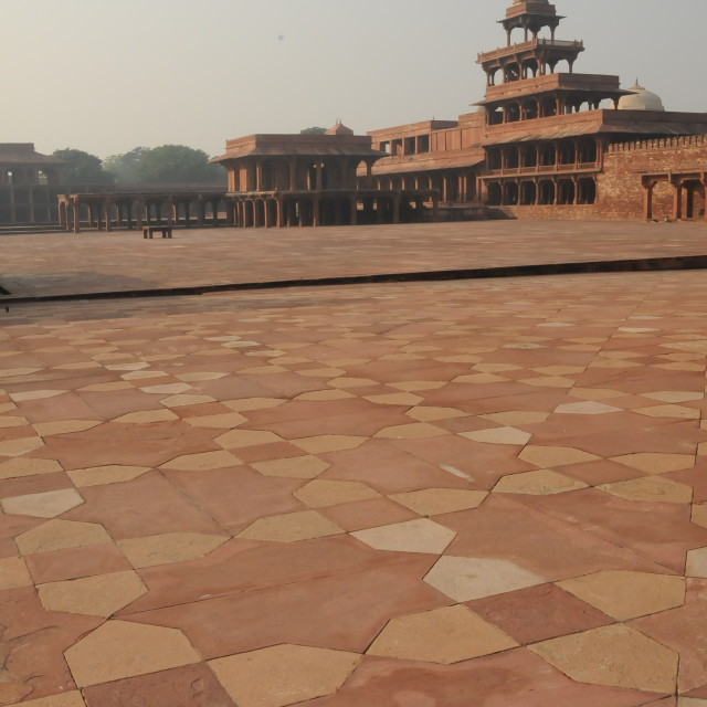 """Fatehpur Sikri in the morning"" stock image"